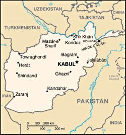 Kartbild Afghanistan